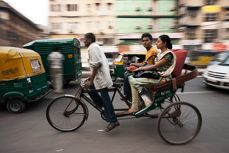 Cycle rickshaw in Delhi